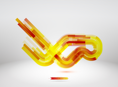 techno: Techno Vector Curves Tapes Abstract Background
