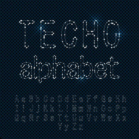 trendy: Techno Fonts Trendy Stylish Alphabet