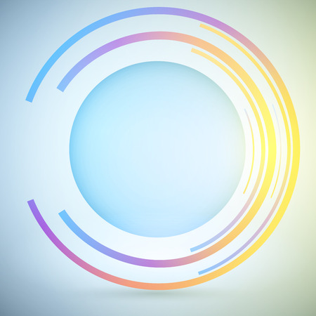 retina scan: Techno Geometric Vector Circle Modern Science Abstract Background