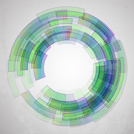retina: Techno Circle Abstract Background Illustration