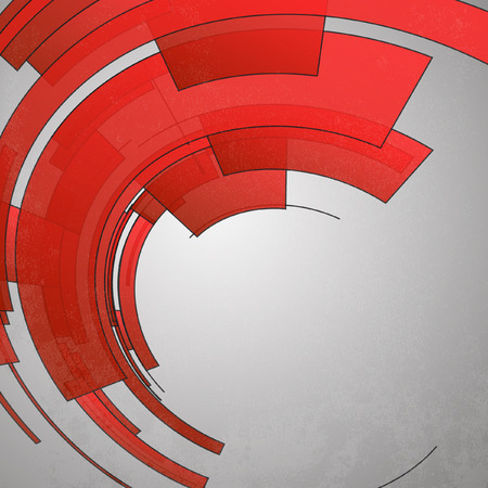 Techno Circle Abstract Background Illustration