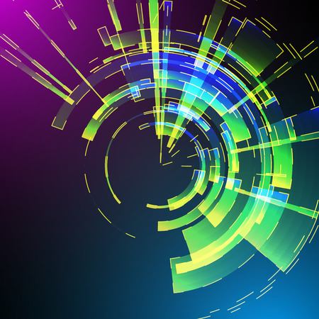 retina: Techno Geometric Vector Circle Modern Science Abstract Background