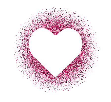 Confetti of hearts on white background. Valentines Day. Vector holiday illustration. Illustration