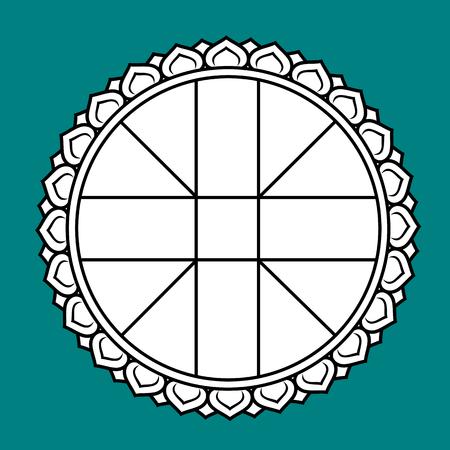 Wheel chart for Thai astrology, Symbol of Thai astrology.