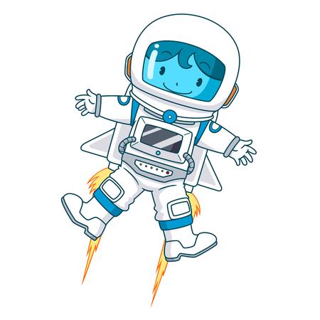 Cartoon character of astronaut floating, Vector illustration. 일러스트