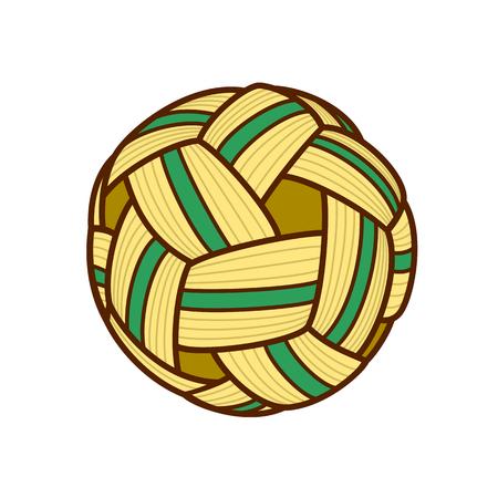 Vector illustration of sepak takraw ball.