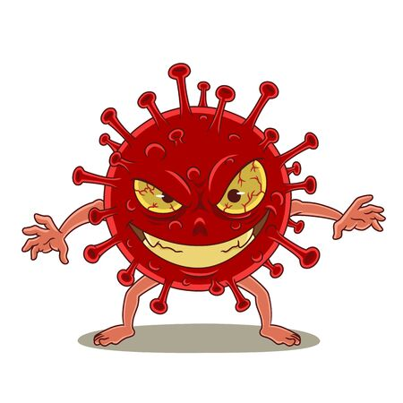 Cartoon character of Coronavirus, Covid-19. Illustration