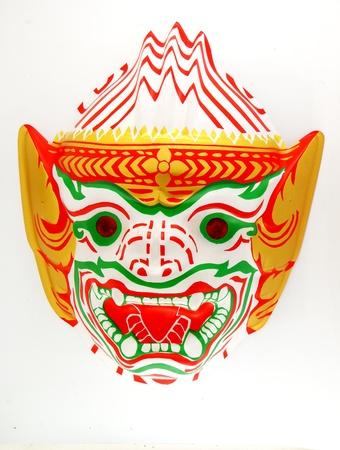hanuman: Hanuman Mask from thailand. Stock Photo