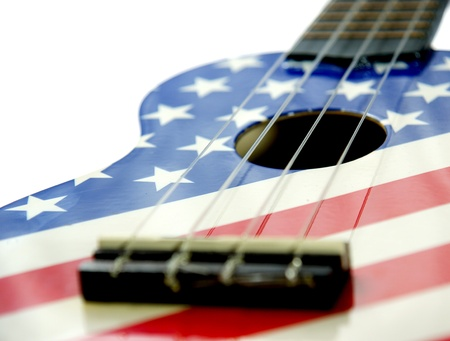 country music: Colorful guitar