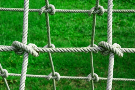 string together: Tied knot on rope
