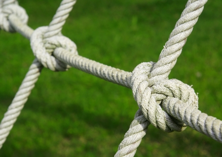 Tied knot on rope photo