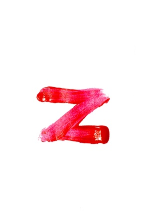Close-up of A-Z  on white background  photo