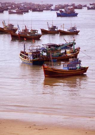 shallop:  Boat in the Sea Stock Photo