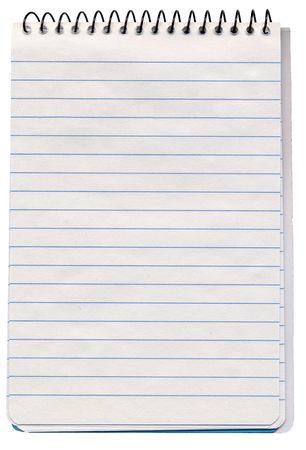 scribbling: Spiral bound note pad