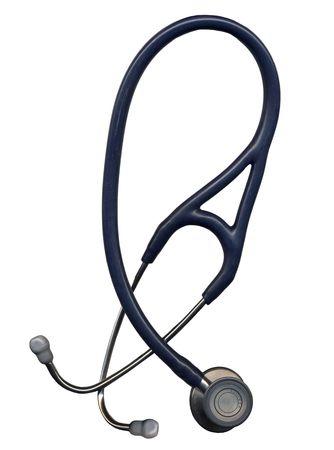 Stethoscope isolated on white photo