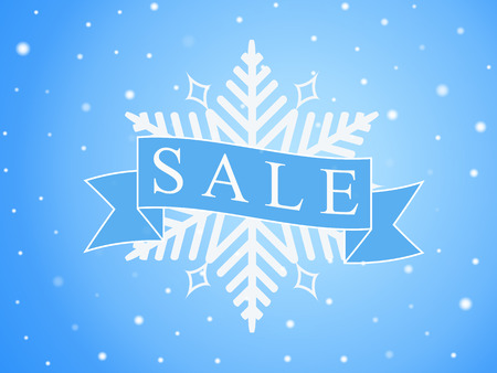 seasonal: Vector banner for winter sales, seasonal illustration with text Sale