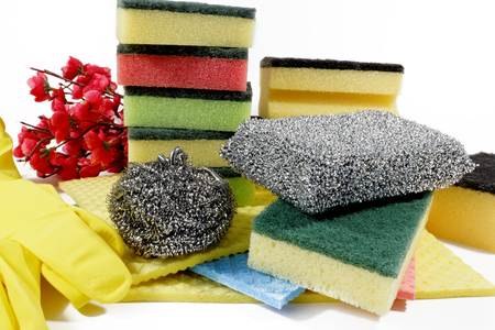 absorb: Unused sponges for washing dishes