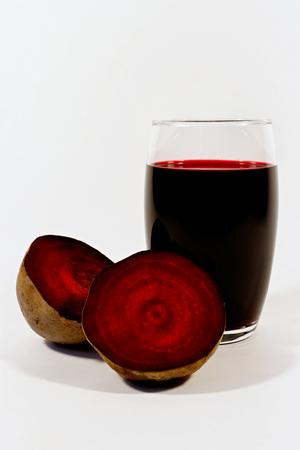 beet juice: Glass of fresh beet juice Stock Photo