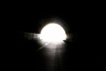 light at the end of tunnel: Light at the end of a tunnel