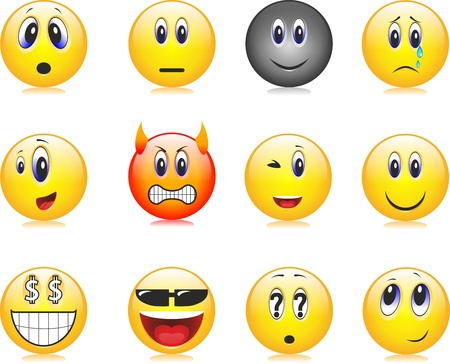 smiles, emotions, facial expressions Stock Vector - 18359065