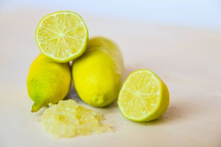 Cut finger limes with pulp