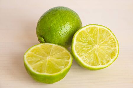 Lime on a white cutting board