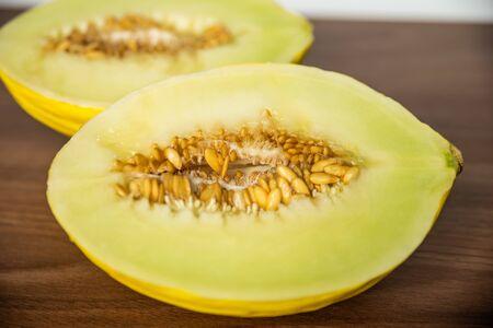 Cut yellow melon
