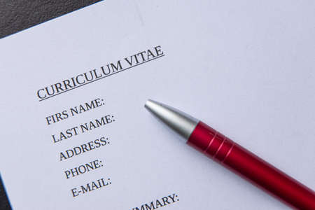drawing up a curriculum vitae