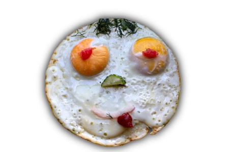face man with a smile of Fried Stock Photo - 7520854