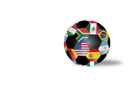 Soccer ball with shade isolated on white background photo