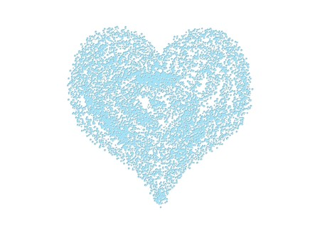 Blue heart  on white  background Stock Photo - 7520862