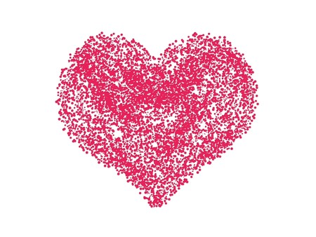 Red heart  on white  background Stock Photo - 7520863