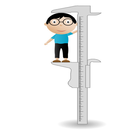 illustration callipers_boy on a white background Vector