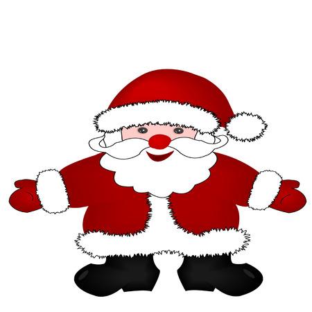 one year old: Ilustraci�n de Navidad Pap� Noel aislado sobre fondo blanco