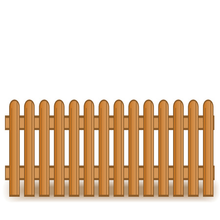 palisade: illustration of a wooden brown fence