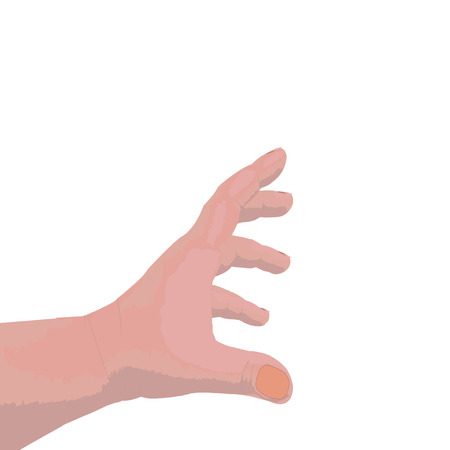 Hand of the person on isolated white background Illustration