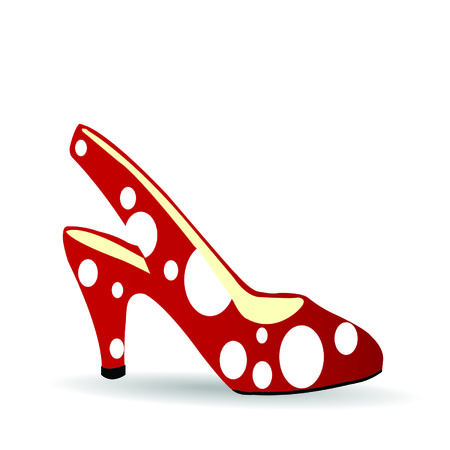illustration a red shoe on a white background