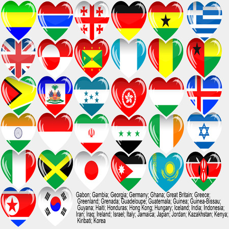 Flags of the countries of the world_EPS10 Vector
