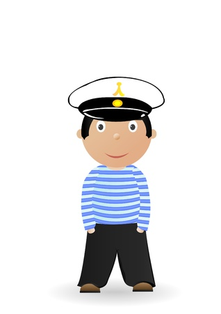 Vector illustration the cheerful seaman in a uniform. Stock Vector - 8953669