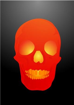 Vector illustration a human skull by a holiday halloween illustration
