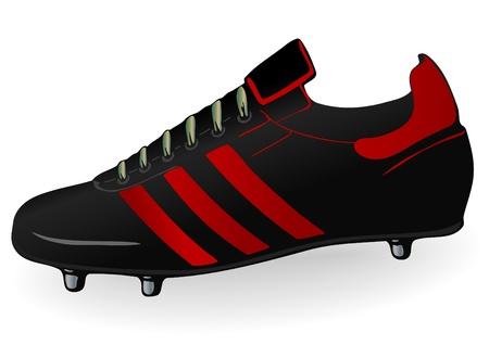 Vector illustration a football boot illustration