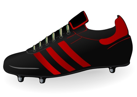 soccer shoe: Vector illustration a football boot Stock Photo
