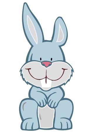 Vector illustration a cheerful hare illustration