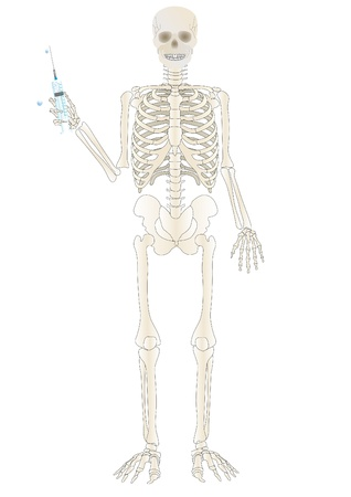 Vector a skeleton of the person with a syringe Stock Photo - 9020022