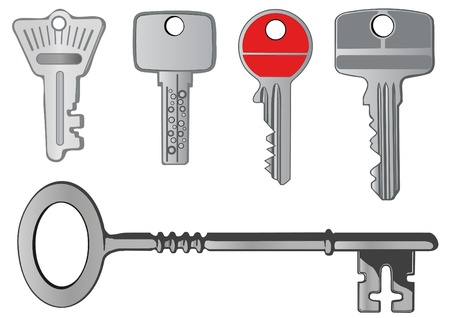 Vector set a metal key from the lock photo