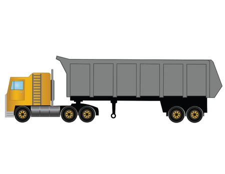 commercial painting: Vector illustration the yellow truck.