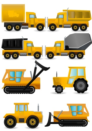 tow: construction machines vector  Stock Photo