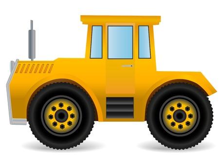 Vector illustration the yellow traktor. illustration