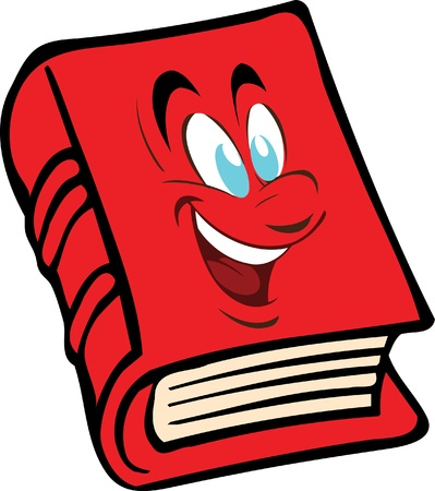 exercisebook: The vector red book with the face Illustration