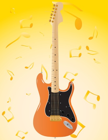 Vector abstract background with patterns notes and a guitar Stock Vector - 9079876